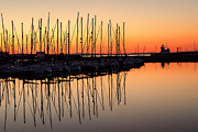 Sailboats At Sunset Print by Phil Callan Photography