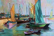Bernadette Krupa - Sailboats by Mary Krupa