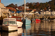 Water Vessels Prints - Sailboats in Camden Harbor III Print by Clarence Holmes