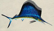 Fishing Sculpture Metal Prints - Sailfish Metal Print by Diane Snider