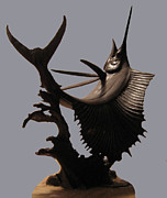 Fishing Sculptures - Sailfish by Lina Tricocci
