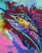 Aquatic Painting Metal Prints - Sailfish Metal Print by Maria Arango