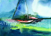 Sailing 2 Print by Anil Nene