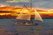 Jeff Breiman - Sailing At Sunset