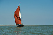 Old And New Metal Prints - Sailing barge Metal Print by Gary Eason