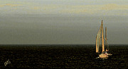 Panoramic Digital Art - Sailing by Ben and Raisa Gertsberg