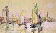 Harbour Prints - Sailing Boats at Les Sables d Olonne  Print by Paul Signac