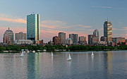 Charles River Posters - Sailing Boston Poster by Juergen Roth