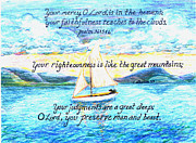 Religious Drawings - Sailing  by Catherine Saldana