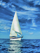 Sailing Digital Digital Art Framed Prints - Sailing Framed Print by Dale Jackson