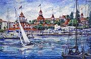 Famous Hotel Paintings - Sailing Glorietta Bay by Sue Tushingham McNary