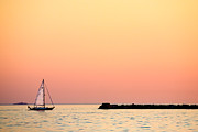 Sunset Sailing Prints - Sailing In Color Print by Gary Heller