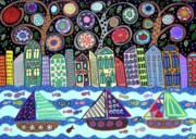 Sail Fish Prints - Sailing in the city Print by Kerri Ambrosino GALLERY