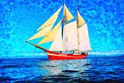 Sailing In The Cold Waters Art Print by MotionAge Art and Design - Ahmet Asar