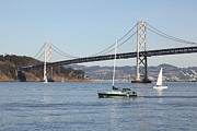Bay Bridge Photos - Sailing in The San Francisco Bay - 5D20823 by Wingsdomain Art and Photography