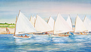 Sand Dunes Painting Posters - Sailing in the Summertime II Poster by Michelle Wiarda
