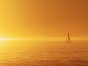 Paul Topp Art - Sailing into the Sunset by Paul Topp