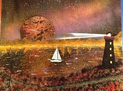 Outer Space Painting Originals - Sailing  by Michael Rucker