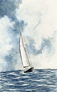 Sailboat Paintings - Sailing by Michael Vigliotti