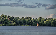 Boating Lake Prints - Sailing on Lake Peewee Print by Jim Pearson