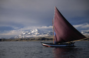 Ice - Sailing on Lake Titicaca by James Brunker