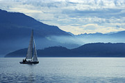 Zug Metal Prints - Sailing on lake Zug Metal Print by Ron Sumners