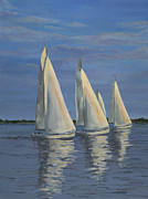 Edward Williams Prints - Sailing on the Chesapeake Print by Edward Williams