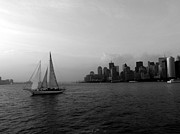 Sailing On The Hudson Print by Avis  Noelle