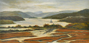 Constitution Paintings - Sailing Past Boscobel by Phyllis Tarlow