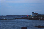 Cape Neddick Light Station Prints - Sailing Regatta by Nubble Light Print by Darleen Stry