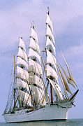 Sailing Ship Metal Prints - Sailing ship Metal Print by Anonymous
