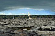 Sail Boats Posters - Sailing Poster by Steven  Michael