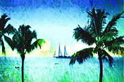 Florida Digital Art - Sailing the Keys by Bill Cannon