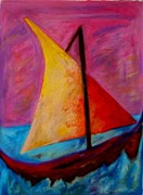 Amazing Pastels Prints - Sailing the Seas Print by Jon Kittleson