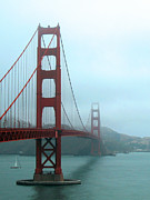 Sausalito Photos - Sailing Under the Golden Gate Bridge by Connie Fox