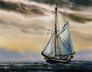 Nautical Greeting Card Prints - Sailing Vessel SEUTE DEERN Print by James Williamson