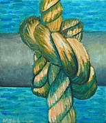 Textures And Colors Painting Prints - Sailor Knot 9 Print by Ana Maria Edulescu