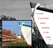 Boating Digital Art - Sailor - Wind - Water - Boats by Barbara Griffin