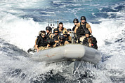 Inflatable Photos - Sailors Conduct Maneuvers by Stocktrek Images