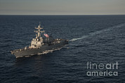 Man The Rails Prints - Sailors Man The Rails Of Uss Stockdale Print by Stocktrek Images