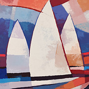 Sailboats Mixed Media - Sails ahead graphic by Lutz Baar