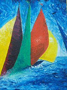 Sport Impasto Oil Paintings - Sails by Conor Murphy