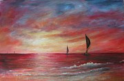 Rita Palm - Sails in the Sunset