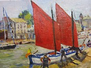 Brilliant Paintings - Sails on the Seine by Albert Fendig
