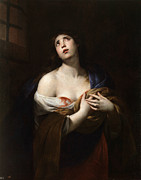 Famous Artists - Saint Agatha by Andrea Vaccaro