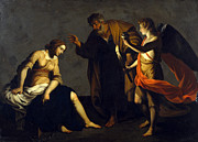 Famous Artists - Saint Agatha Attended by Saint Peter and an Angel in Prison by Alessandro Turchi