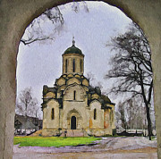 Old Town Digital Art Posters - Saint Andronic Monastery in Moscow 3 Poster by Yury Malkov