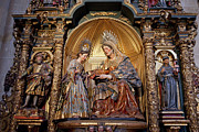 Interior Scene Prints - Saint Anne and Virgin Mary Sculptures in Seville Cathedral Print by Artur Bogacki