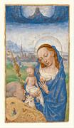 Famous Artists - Saint Bernards Vision of the Virgin and Child by Simon Marmion