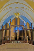 Christian Sacred Framed Prints - Saint Bridgets Pipe Organ Framed Print by Susan Candelario